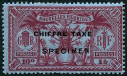 * N°1/5 La Série Surchargée Specimen - TB - New Hebrides