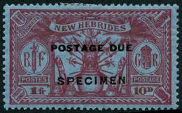 * N°6/10 La Série Surchargée Spécimen - TB - New Hebrides
