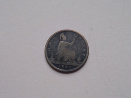 1860 - 1 Penny / KM 749.2 ( For Grade, Please See Photo ) ! - 1816-1901 : Frappes XIX° S.