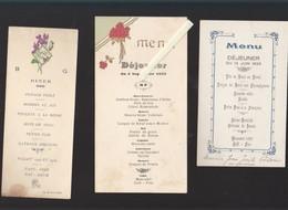 Menu  - Lot De 8 Entre 1925 Et 1932 Tous Avec Des Vins De Muscadet Ou Vallet, - Menus