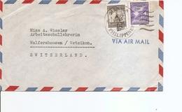 Philippines ( Lettre De 1951 De Manille Vers La Suisse à Voir) - Philippines