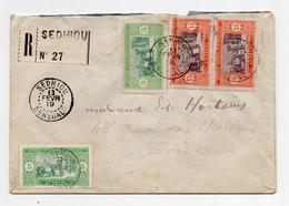 !!! PRIX FIXE : SENEGAL, LETTRE RECOMMANDEE DE SEDHIOU DE 1919 POUR BORDEAUX - Sénégal (1887-1944)