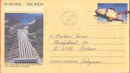 Australia 1987 A 84 Tumut 3 Power Station Used To Belgium Aerogramme - Aerogrammes