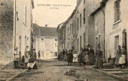 CPA - VAUVILLERS (70) - Aspect De La Rue De La Vignotte Et De La Poste En 1907 - Autres Communes