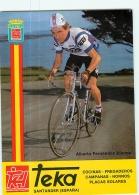 Alberto FERNANDEZ BLANCO . Cyclisme. 2 Scans. Teka 1982 (?) - Cyclisme