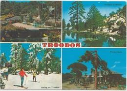TROODOS, Cyprus, Multi View, 1995 Used Postcard [21145] - Cyprus