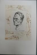 Ex-libris Moderne XXème Illustré -  Allemagne - Portrait D'homme - Hans LAUT - Bookplates