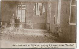 """Paris - Bombardement De Paris Par Canons à Longue Portée """"Berthas"""" - 19 Mars 1918 - La Maternité - Carte Photo - Autres"""