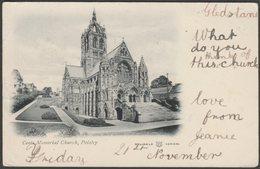 Coats Memorial Church, Paisley, Renfrewshire, 1902 - Reliable Series U/B Postcard - Renfrewshire