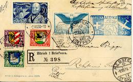 Suiza - Africa 1930 Primer Vuelo  Escala Cartagena Y Llegada Alicante Vol - Flight. Raro! Ver 2 Scan - Posta Aerea