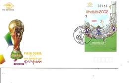 Coupe Du Monde En Corée Du Sud Et Japon -2002 ( FDc D'Indonésie De 2002 Avec Bf à Voir) - 2002 – Corée Du Sud / Japon