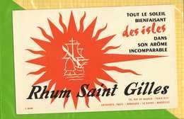 BUVARD & Blotting Paper :  Rhum SAINT GILLES - Liquor & Beer