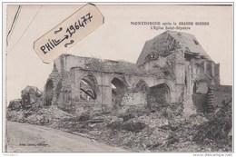 80 Montdidier - Cpa / Guerre 14-18 - L'Eglise Saint-Sépulcre. - Montdidier