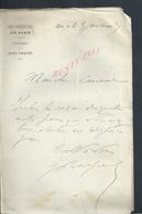 3 LETTRES DE 1893 SOUS PRÉFECTURE DE GIEN CABINET DU SOUS PRÉFET : - Manuscrits