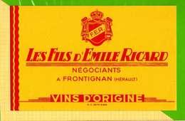 Buvard & Blotting Paper :   LES FILS D'EMILE RICARD  Negociant A Frontignan - Liquor & Beer