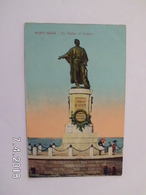 Port Said. - The Statua Of Lesseps. - Port Said