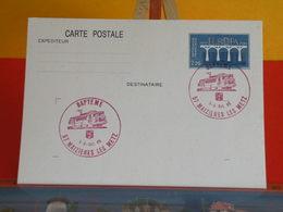 Train Baptême (Europa CEPT) > Maizières Les Metz (57) > 5 & 6.10.1985 > Carte Entiers Postaux - Marcofilie (Brieven)