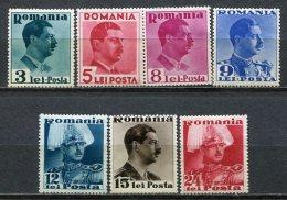 Yv. N°  587 à 594   **/*   Charles II Cote  21 Euro  TBE R  2 Scans - 1918-1948 Ferdinand, Charles II & Michael