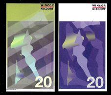 """ATM Test Note """"WINCOR NIXDORF Schweden"""", 20 SEK, Beids. Druck, RRRRR, UNC - Sweden"""
