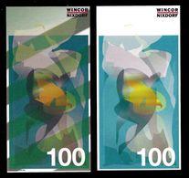 """ATM Test Note """"WINCOR NIXDORF Schweden"""", 100 SEK, Beids. Druck, RRRRR, UNC - Sweden"""