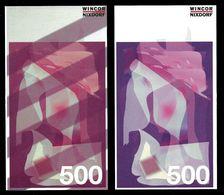 """ATM Test Note """"WINCOR NIXDORF Schweden"""", 500 SEK, Beids. Druck, RRRRR, UNC - Sweden"""