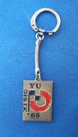 RARE Keychain Key Holder Keyrings  -  XI World Cup Deaf Mute Belgrade 1969 - Key-rings