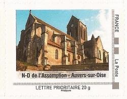 """FRANCE 2009 Collector """" Ile - De - France """" : Notre Dame De L'Assomption Auvers- Sur-Oise - Tbre Neuf **  (adhésif) - France"""