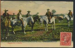 °°° 10979 - CILE CHILE - HUASOS DE A CABALLO - 1910 With Stamps °°° - Cile