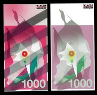 """ATM Test Note """"WINCOR NIXDORF Schweden"""", 1000 SEK, Beids. Druck, RRRRR, UNC - Sweden"""