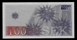 "ATM Test Note ""BANQ IT Schweden"" Testnote, 100 SEK, Beids. Druck, RRR, UNC - Sweden"