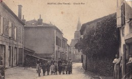 MARVAL,,,,GRANDE  RUE,,,,carte Muette De Soldat Pendant La Guerre ,,,,,, - Other Municipalities