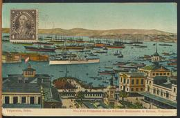 °°° 10985 - CILE CHILE - VALPARAISO BAHIA - 1913 With Stamps °°° - Cile