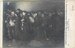 -ref  X166 - Illustrateurs -illustrateur - Arts -tableaux -peinture- Peintre Jules Adler - La Soupe Des Pauvres  - - Peintures & Tableaux