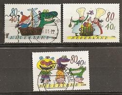 Pays-Bas Netherlands 2000 Pour La Jeunesse Avec Dragones (autre/special Perforation!) Set Complete Obl - Unused Stamps
