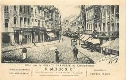 LILLE - La Rue Esquermoise,A Meier,brasserie  De L'industrie,carte Illustrée. - Lille
