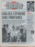 Libération 27/28 Avril 1991 - Epidémie Cholera - Kurdes - Peugeot Poissy - Ferrari - Actrices De L'Est - Newspapers