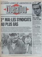 Libération 2 Mai 1991 - Syndicats - Arno Schmidt - Le Pen Carpentras - Oural - Tatoueurs - Milan/meuble - Newspapers