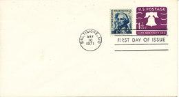USA FDC Uprated Postal Stationery Baltimore MD. 10-5-1971 - 1971-1980