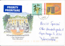 Austria Postal Stationery Cover Uprated And Sent To Denmark 21-1-2010 With Nice Cachet - Interi Postali