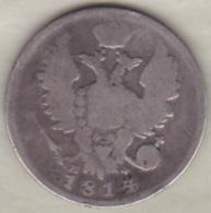 Russie . 20 Kopeks 1814 . Alexander I . Argent. C# 128 - Russie