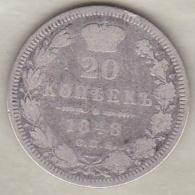 Russie . 20 Kopeks 1848 . Nicholas I. Argent. C# 165 - Russie
