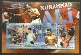 BURUNDI 2012 SPORT BOXING MUHAMMAD ALI CASSIUS CLAY M/SHEET MNH - Other