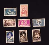 FRANCE  1939 8 Timbres Neufs GF  N°419, 428 Charnière, 437, 438, 439, 440,441, 446  Cote 81€ - France