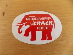 Sticker, Zelfklever, Autocollant  Meubelfabriek Crack Ieper - Stickers