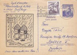 Austria Uprated Stationery Sent To Yugoslavia , Salzburg 1967 - Entiers Postaux