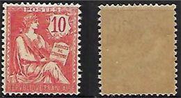 """FR YT 124 """" Mouchon Retouché 10c. Rose"""" 1902 Neuf** - 1900-02 Mouchon"""