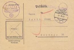 Austria Deutsches Reich Stationery Pernegg 1942 , Gebuhrenpflichtige Dienstsache - Stamped Stationery
