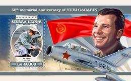 Sierra Leone. 2018 50th Memorial Anniversary Of Yuri Gagarin. (212b) - Africa
