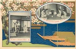 -ref  X146- Japon - Japan - Illustrateurs -dessin Illustrateur - Carte Gaufrée -imperial  Government Railways Of Japan - - Japan