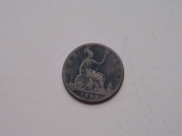 1883 - 1 Penny / KM 755 ( For Grade, Please See Photo ) ! - 1816-1901 : Frappes XIX° S.